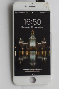 iphone Трещины на стекле, сколы