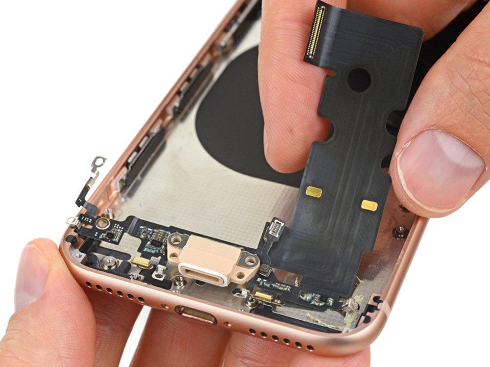 замена разъема заярдки iphone 8 plus