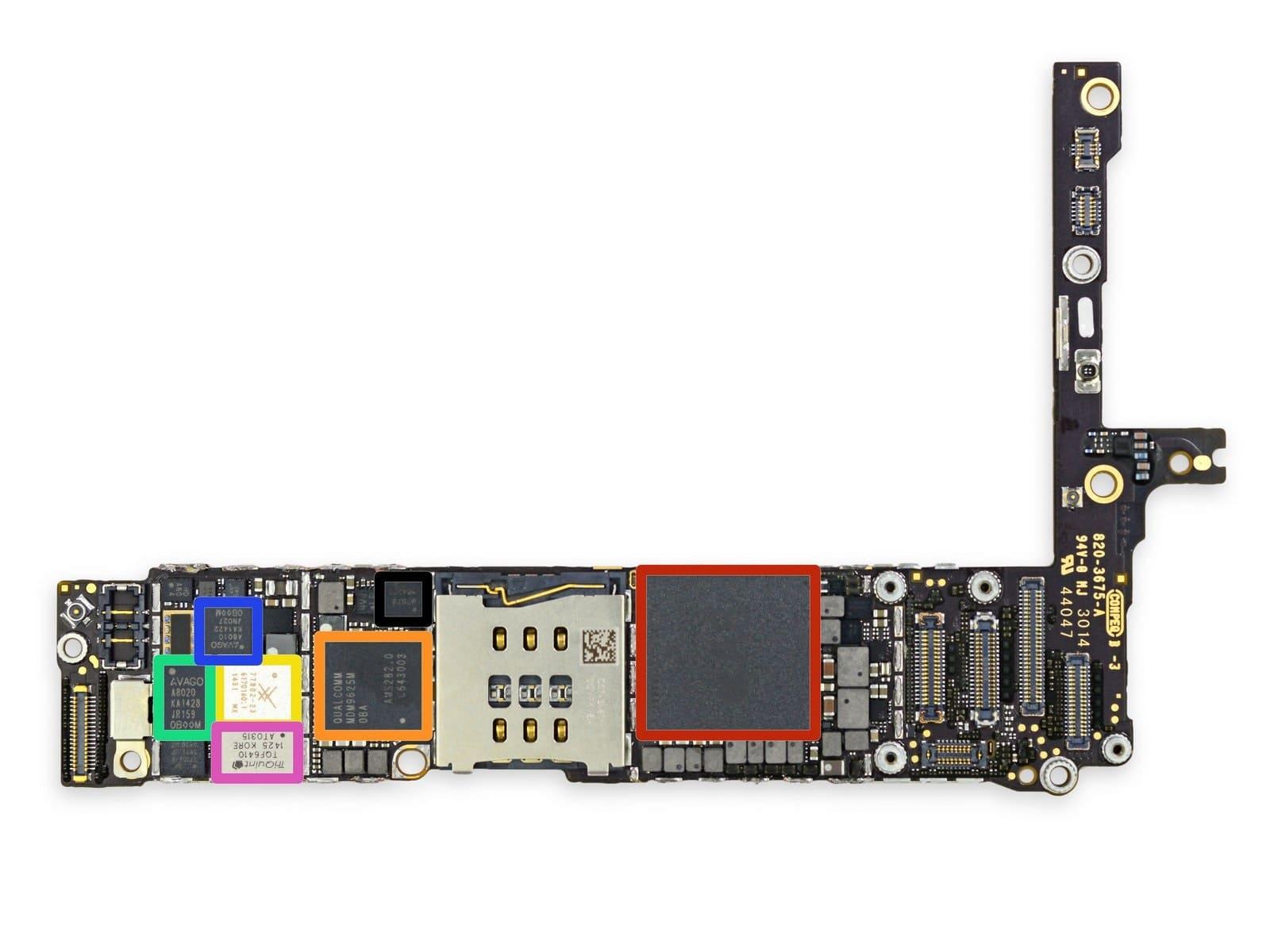 ремонт платы iphone 6 plus