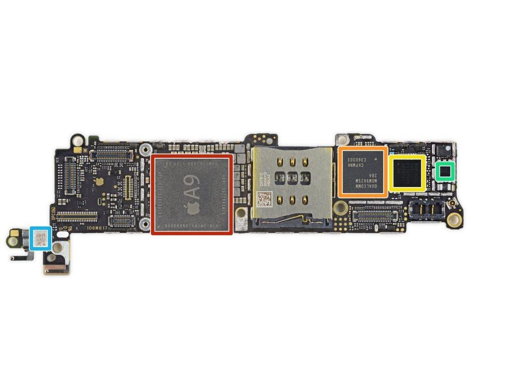 ремонт платы iphone SE