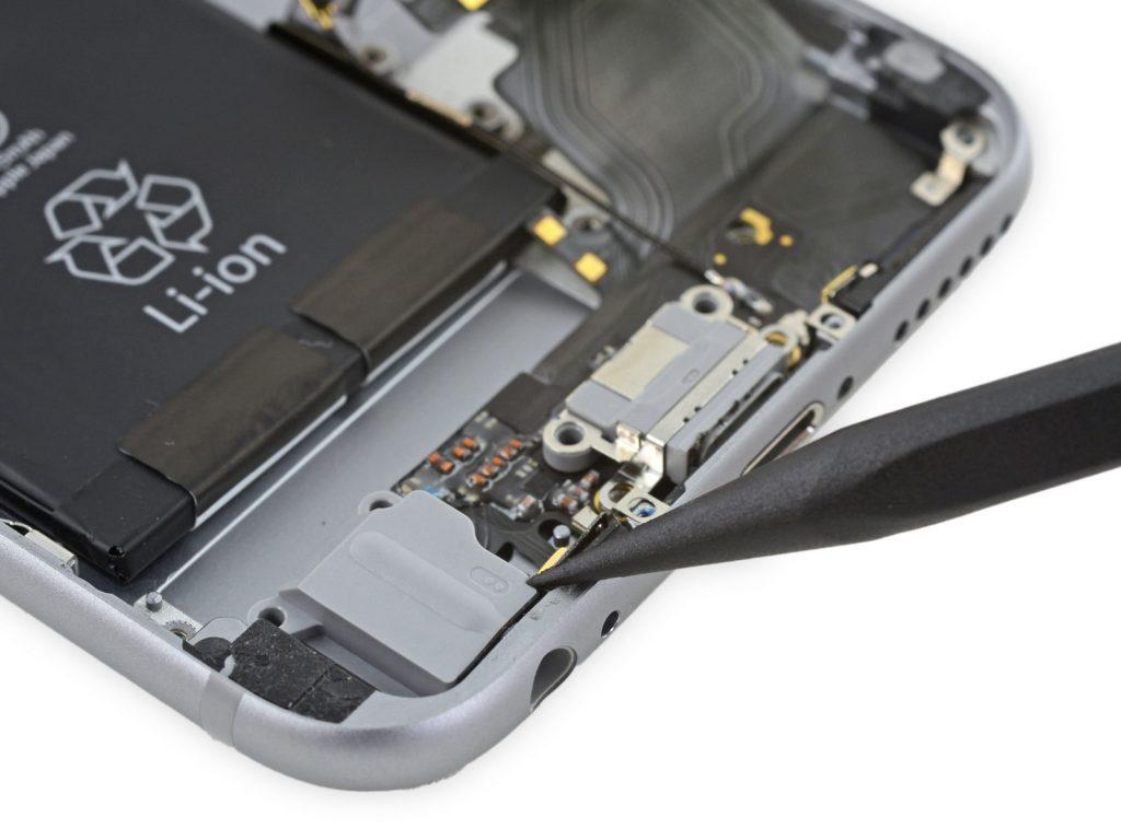 замена рзъема наушников iphone 6