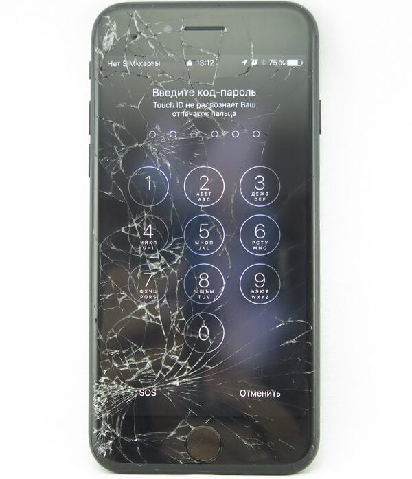 замена стекла iphone 8