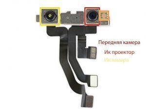Замена фронтальной камеры iPhone 10